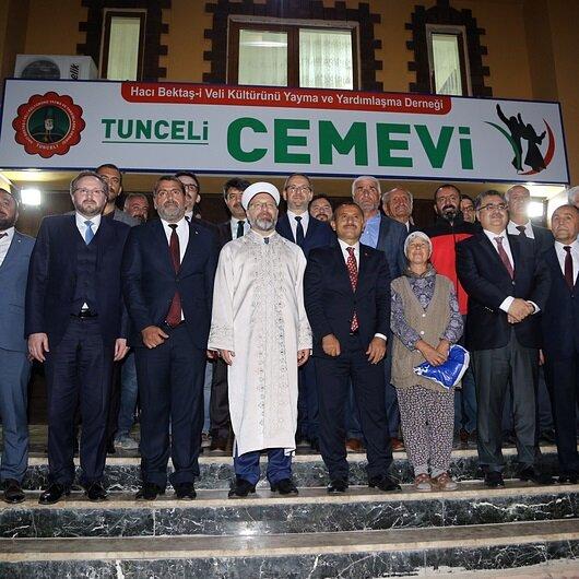 Diyanet İşleri Başkanı Erbaş cemevi ziyaret etti