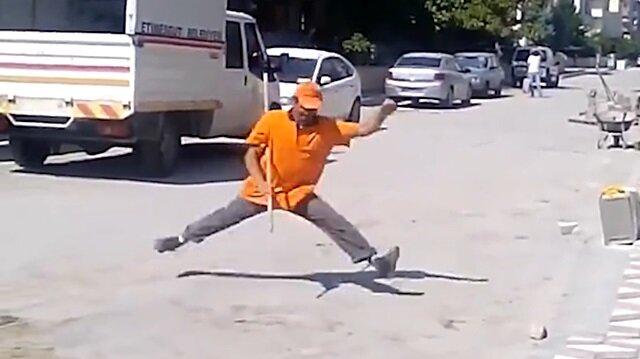 Sincanlı ninja İsmail'den ağızları açık bırakan şov