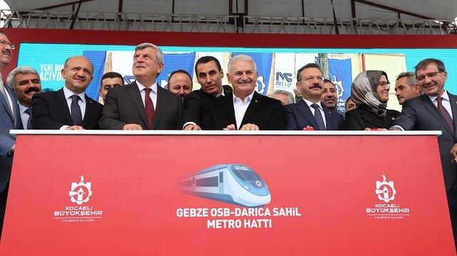 Metro project's foundation laid in Turkey's Kocaeli