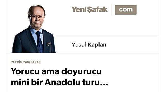 Yorucu ama doyurucu mini bir Anadolu turu...