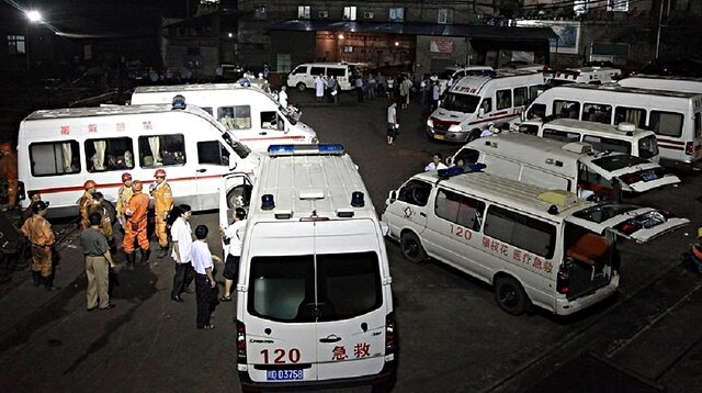 Twenty two workers trapped in coal mine explosion in China
