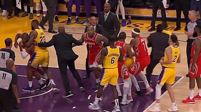 NBA'de büyük kavga: Yumruklar konuştu!