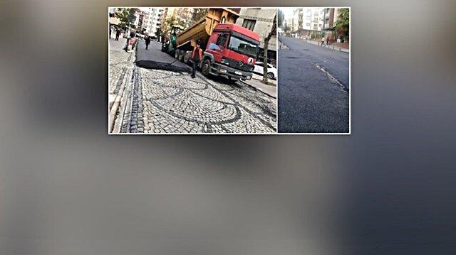 Kartal Belediyesi '2 milyon TL'yi de asfaltla örtmüş