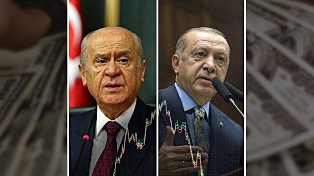 Bahçeli yükseltti Erdoğan düşürdü
