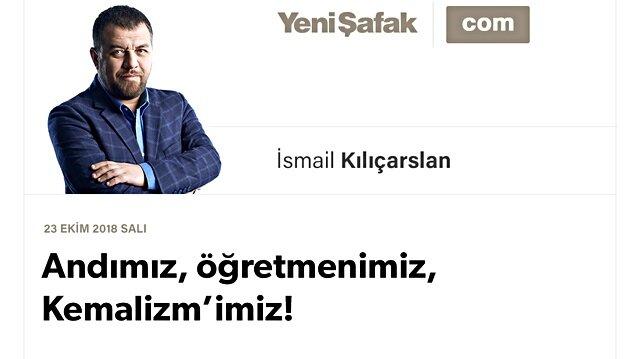 Andımız, öğretmenimiz, Kemalizm'imiz!
