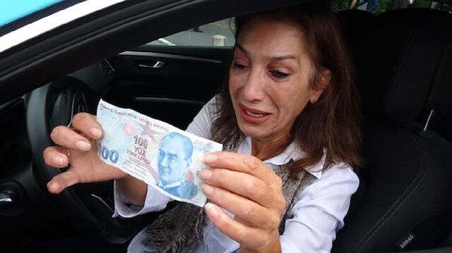 Sahte para alan taksici gözyaşlarını tutamadı