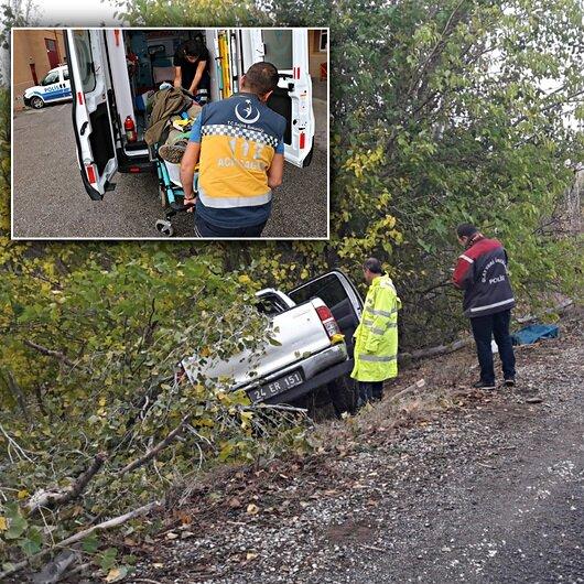 Resmi plakalı araç şarampole düştü: Bir şehit 3 yaralı