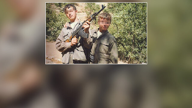 Çocuk yaştaki teröristler böyle görüntülenmişti.