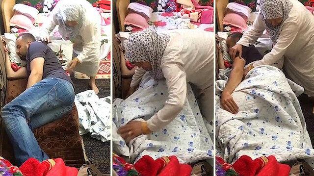 Büyükanneden yürekleri ısıtacak anlar