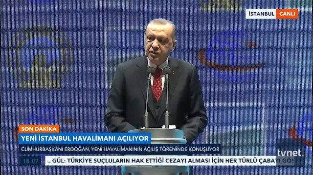 Cumhurbaşkanı Erdoğan yeni havalimanının ismini açıkladı