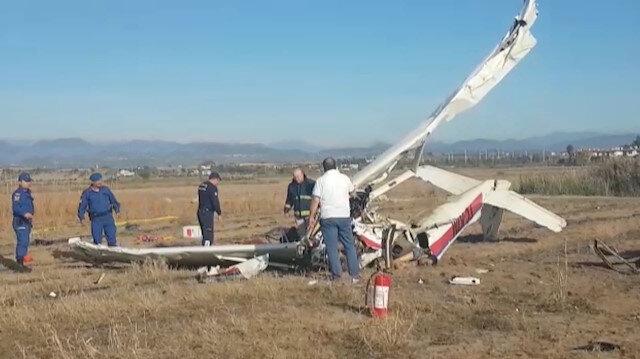 Antalyada keşif uçağı düştü: 2 ölü