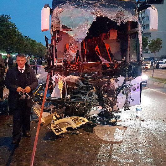 Zonguldak'ta otobüsle tır çarpıştı