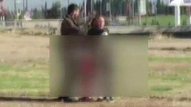 Vicdansız adam bebekli kadını döverek bayılttı