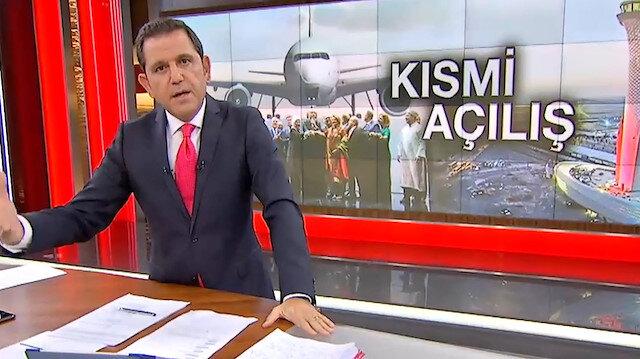 Fatih Portakalın İstanbul Havalimanı yorumu tepki çekti