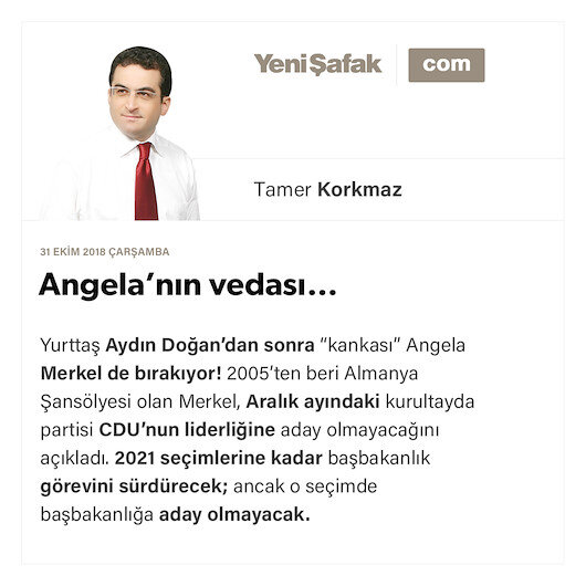 Angela'nın vedası…