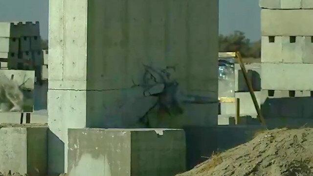 Minyatür bomba harp başlığı 1 metrelik çelik duvarı deldi