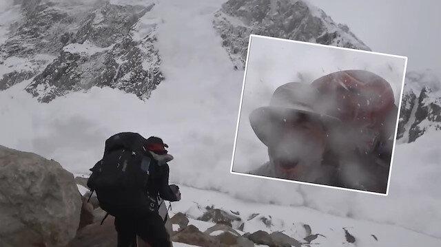 Dağ yamacında film çeken ekip çığın altında kaldı