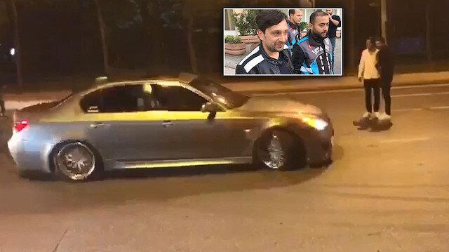 Yolu kapatıp drift yaptı: Ehliyetine el konuldu