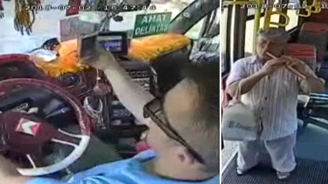 Komedi filmi gibi olay: Minibüste flüt resitali şoförü yaktı