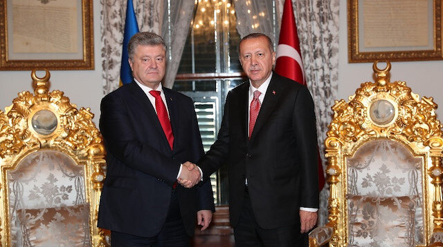 President Erdogan approves President Poroshenko of Ukraine