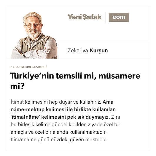 Türkiye'nin temsili mi, müsamere mi?
