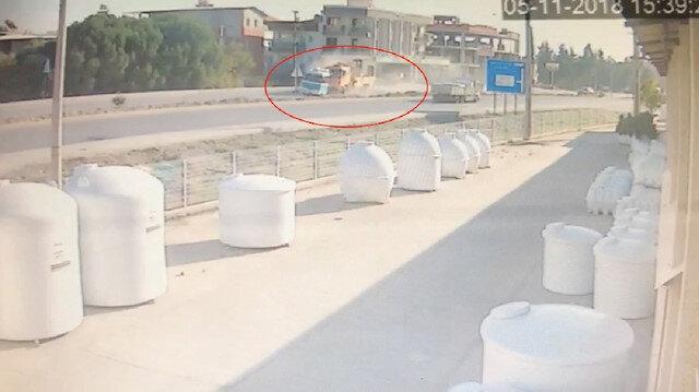 İzmir'de feci kaza güvenlik kamerasında