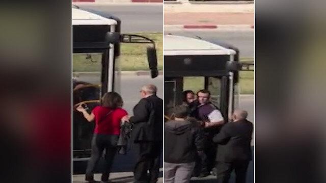 'Gazi kartı geçmez' diyerek zorla otobüsten indirdi