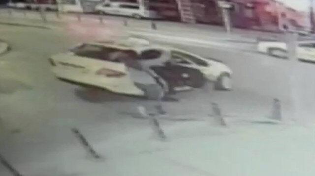 Taksici önce gasp etti, ardından aşağı attı