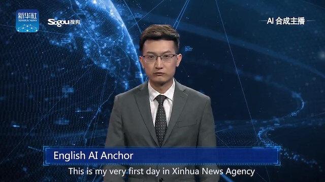 Yapay zeka medyaya da el attı: Haberi insansı robot sundu