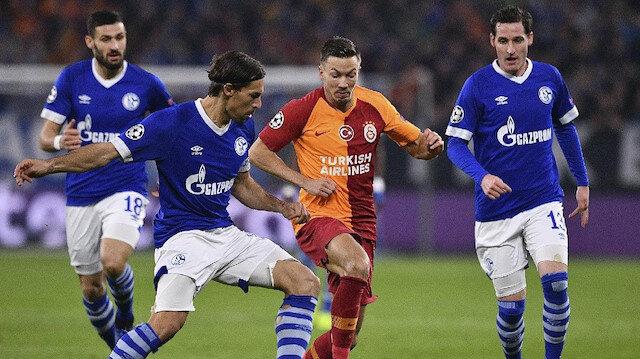 Schalke 04-Galatasaray: 2-0 (Maç özeti ve tüm goller)