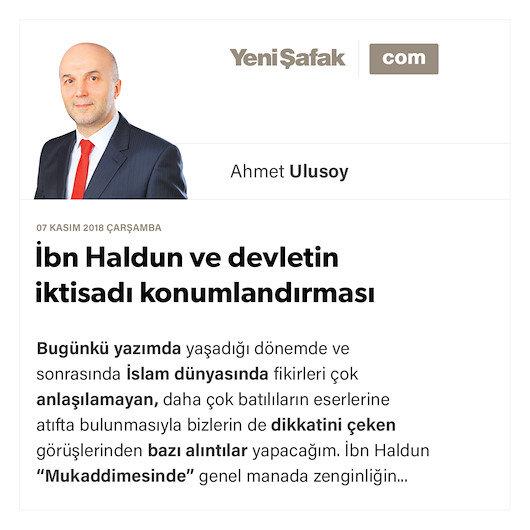 İbn Haldun ve devletin iktisadı konumlandırması