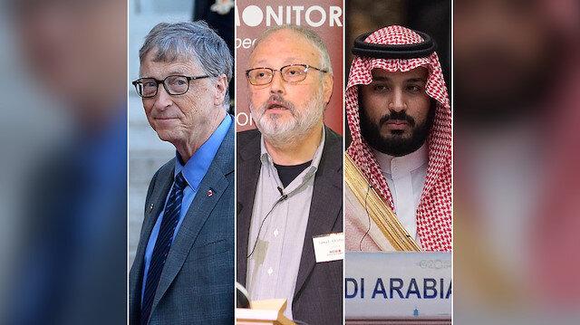 Microsoft'un kurucusu Bill Gates, Cemal Kaşıkçı ve Suudi Arabistan Veliaht Prens Muhammed bin Selman