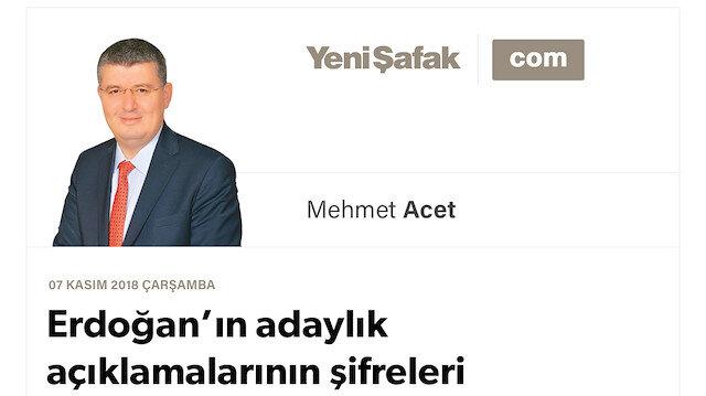 Erdoğan'ın adaylık açıklamalarının şifreleri
