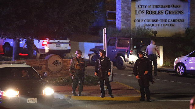 First responders are seen outside Borderline Bar and Grill in Thousand Oaks, California, U.S