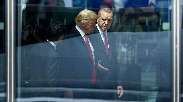 ABD Başkanı Donald Trump ile Cumhurbaşkanı Recep Tayyip Erdoğan.