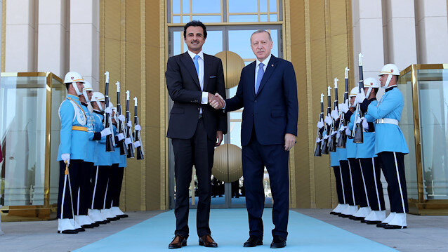 File photo: Turkish President Tayyip Erdoğan meets with Emir of Qatar Sheikh Tamim bin Hamad al-Thani