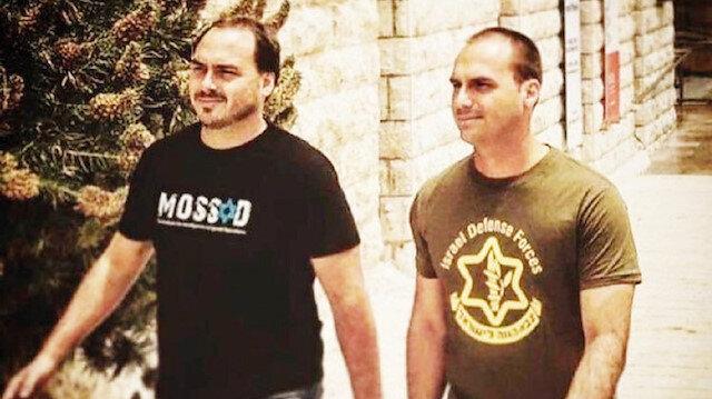 عبيد إسرائيل.. ابنا رئيس البرازيل بقميصين عليهما علم الموساد