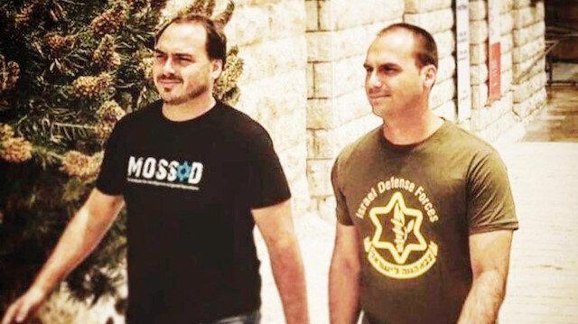 Jair Bolsonaro'nun iki oğlu da İsrail hayranı çıktı.