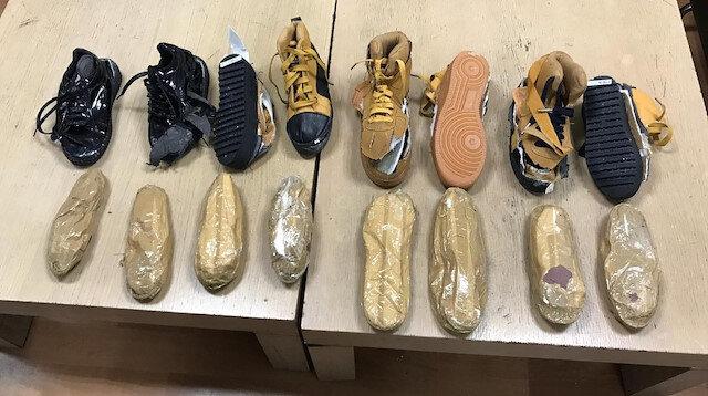 Ayakkabı tabanında uyuşturucu yakalandı