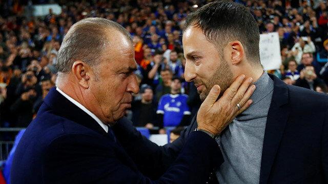 Fatih Terim ile Domenico Tedesco maçtan önce bir süre sohbet etmişti.