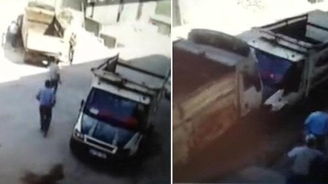 Çocuklar kamyonetin el frenini indirdi: Kazalar art arda geldi