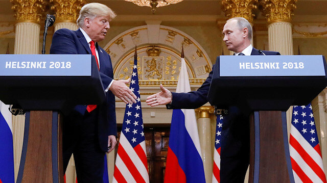 U.S. President Donald Trump and Russia's President Vladimir Putin