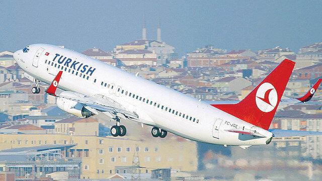Türk Hava Yolları 58 milyon yolcu taşıdı.