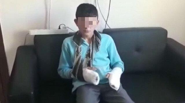 Öğrencisinin parmağını kırıp bileklerini çatlattı