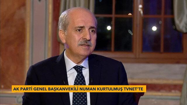 AK Parti Genel Başkan Yardımcısı Numan Kurtuluş TVNET'te yayınlanan Karşı Karşıya programında soruları yanıtladı.