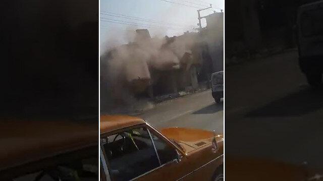 Önlem almadan binayı yıktılar: Sürücüler kıl payı kurtuldu