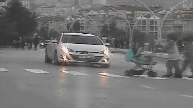 Yayaya yol vermeyen araç radara yakalandı: Cezası kesildi