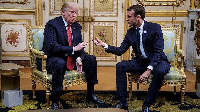 Fransa Cumhurbaşkanı Emmanuel Macron ile ABD Başkanı Donald Trump