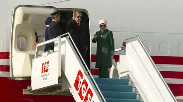 Cumhurbaşkanı Erdoğan, özel uçak 'TC-TRK' ile saat 14.40'ta Paris'e hareket etti.