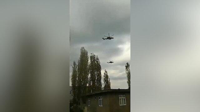 ATAK helikopterlerinden 'havada' saygı duruşu